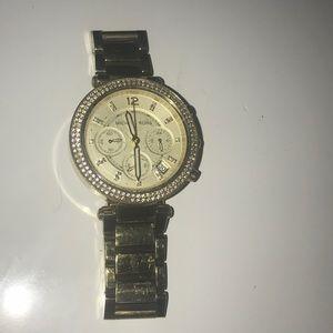 Michael Kors Gold Watch with diamonds